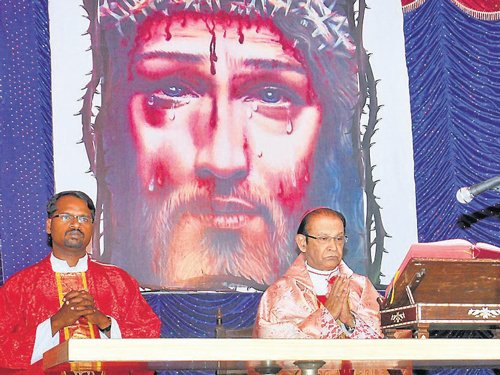 Words of Christ recited, mass held