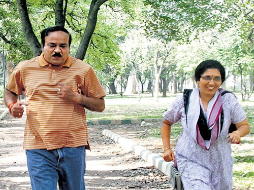 Day after, politicos settle dues, unwind