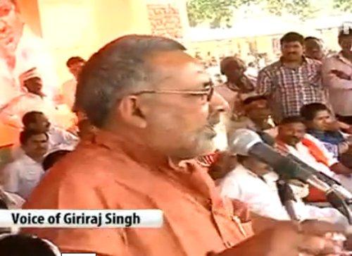 Defiant Giriraj stands by his remark despite BJP displeasure