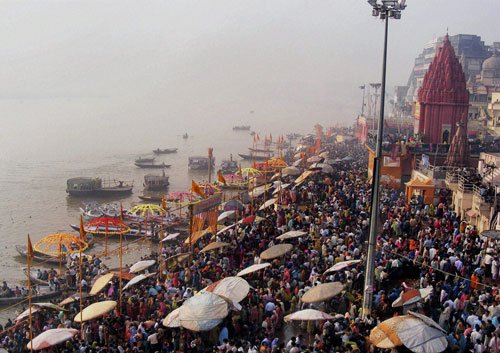 Varanasi basks in its importance, ignores 'waves'