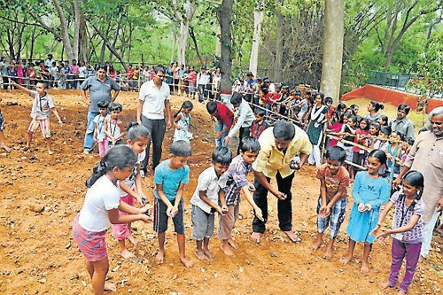 Children learn basics of agriculture