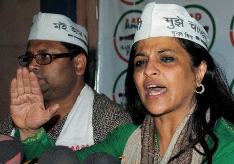 Shazia Ilmi, Aam Aadmi Party leader