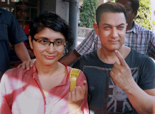 Bollywood celebrities turn out to vote, ask fans to get inked
