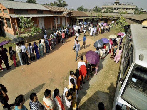 70 per cent to 47 per cent polling till 3 pm in eastern India