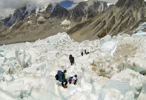Sherpas, the people who make it possible to scale Everest