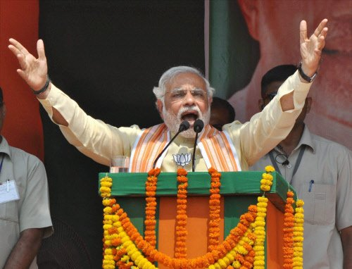 Congress trying to hide in the bunker of secularism: Modi