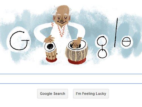 Google celebrates Ustad Alla Rakha's 95th birthday