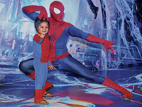 Superhero thrills young fans