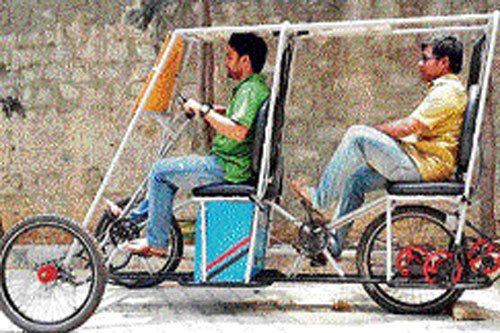 Engineering students design  tricycle powered by solar energy