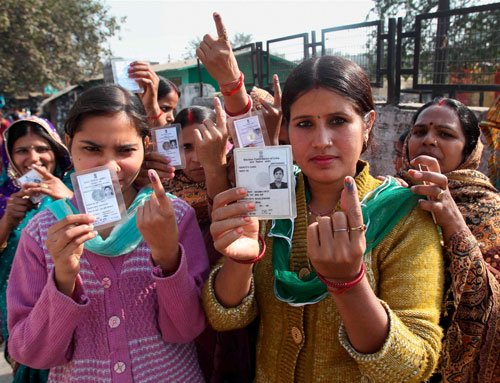 Voting underway in seven states for 64 constituencies