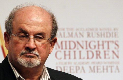 Indian-born author Salman Rushdie