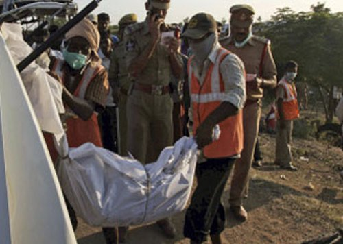 Nine killed as bus plunges into river