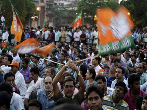 BJP workers protest denial of permission for Modi's rally