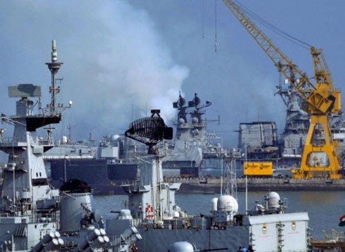 Fire on naval ship in Mumbai; three hurt