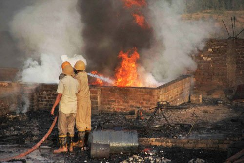 Boy charred to death, 210 houses gutted in fire