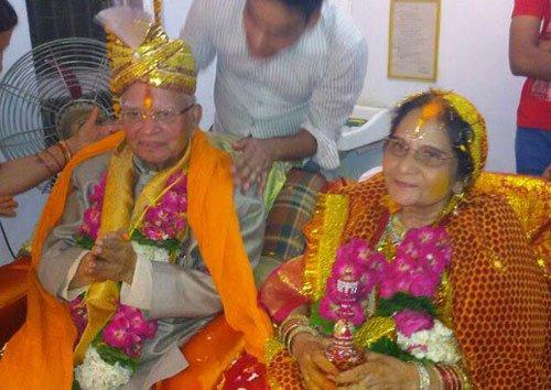 N.D. Tiwari marries his companion Ujjwala Sharma