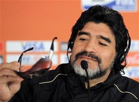 Maradona's papal talk!