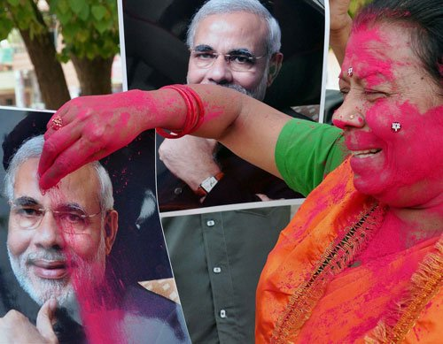 Modi all set to be PM, BJP to get majority on its own