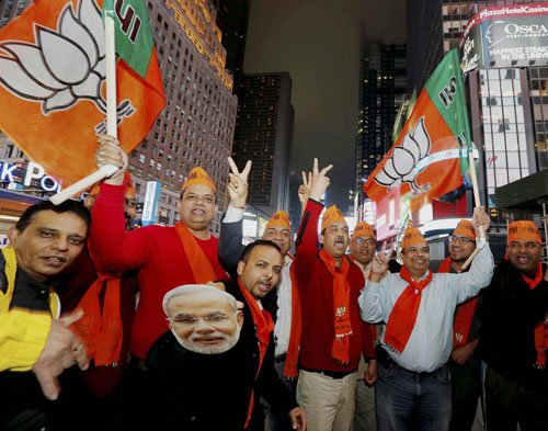 International media wary of BJP win