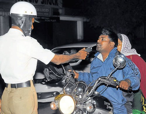 Drive against drunk driving