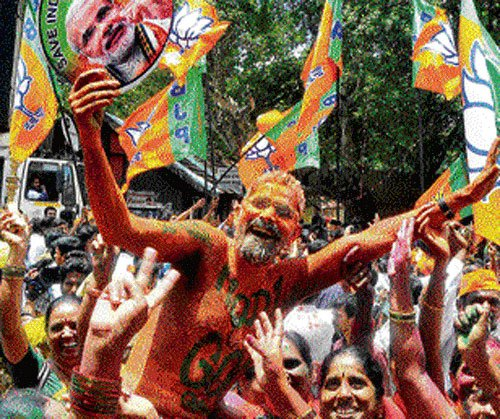 BJP garnered leads in 136 Assembly constituencies