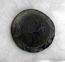 Mould for minting Roman coins found in Talkad