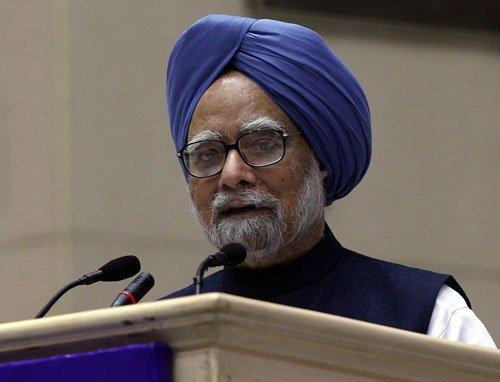Manmohan Singh to Sonia Gandhi
