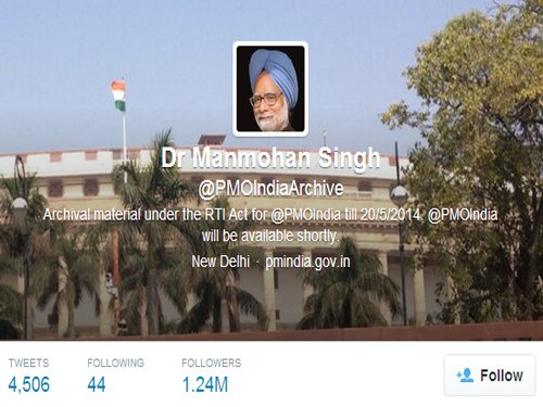Row over PMO Twitter handle