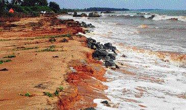 Heavy rain pounds coastal districts