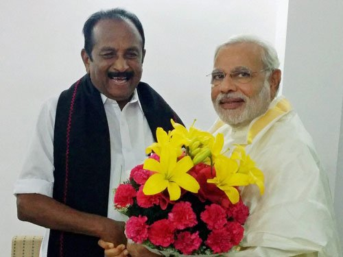 Vaiko meets Modi, says Rajapaksa should not be invited