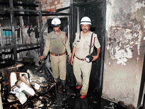 Two suffocated to death in fire at Gandhinagar building