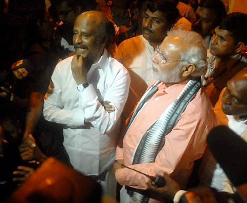 Rajapaksa in, Rajnikanth out of Modi's swearing-in ceremony