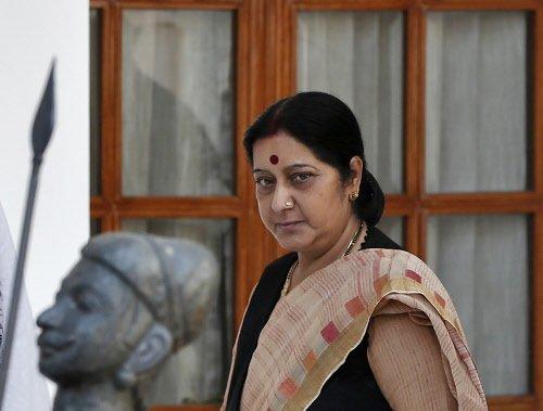 Sushma Swaraj takes charge as external affairs minister
