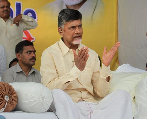 TDP members meet AP Guv, request him to invite Chandrababu to form govt