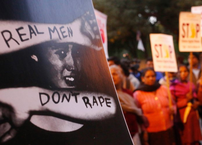 Anti-rape protest held outside Indian High Commission