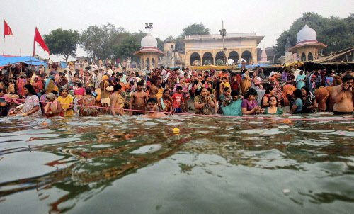 In Krishna's land, 'holy' Yamuna is a sickly drain