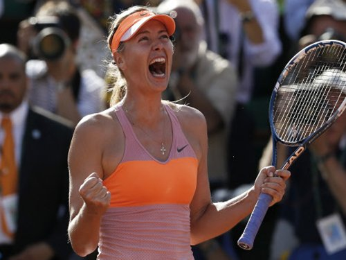 Sharapova wins French Open for second time