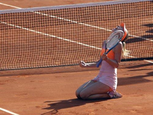 Sharapova ends slam drought