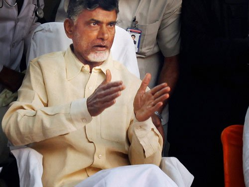 Naidu takes oath as first CM of residuary Andhra today