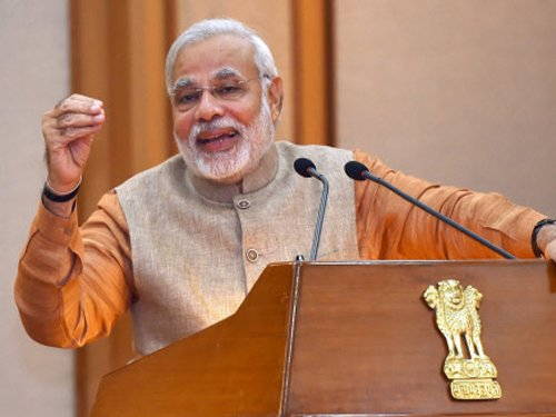 Modi spells out mantra to compete with China