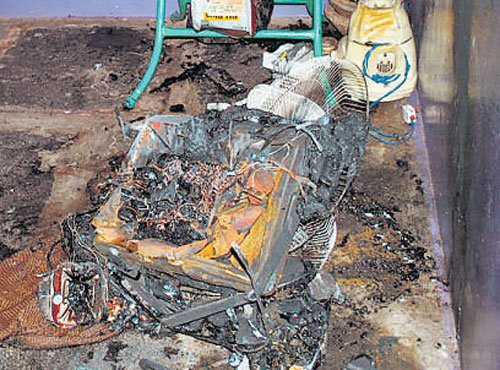 Woman killed as TV explodes
