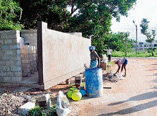 Toilet being built to end woes of CM's neighbours
