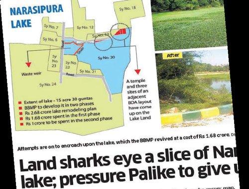 New survey shows no encroachment of Narasipura lake