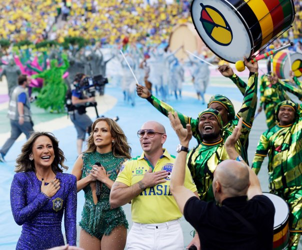 World Cup party begins with charming opening ceremony