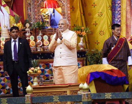 Bhutanese MPs break tradition, clap for Modi