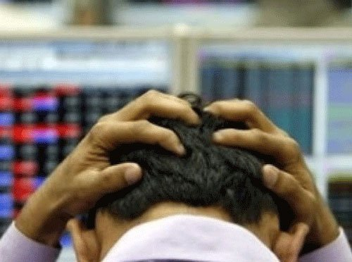 Sensex ends 44 points down; ONGC, RIL shares lead fall