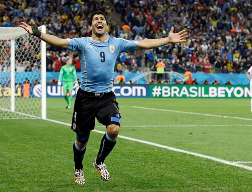 Lethal Suarez gives Uruguay 2-1 win over England