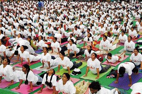 Yogathon, seminar mark Yoga Day