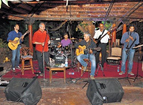 Swinging to Latin  jazz tunes