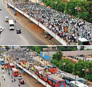 When protests galore tested commuters' patience